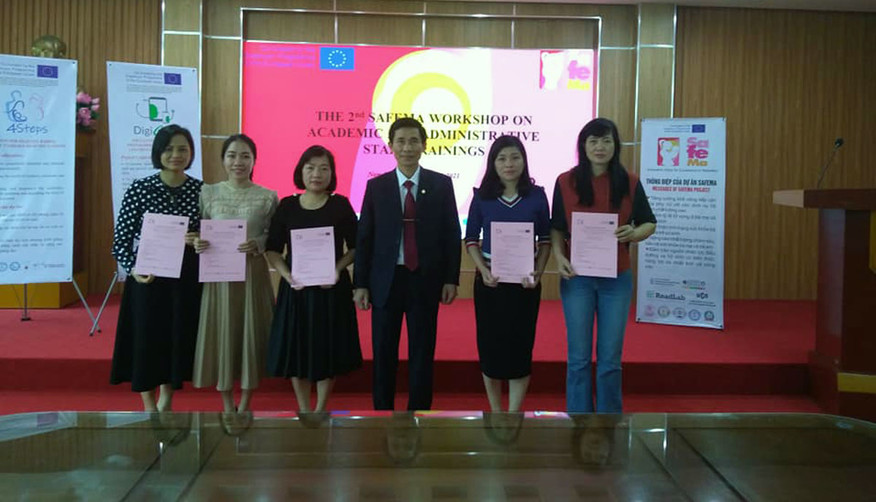 Second round of the SafeMa Training Workshops for academic and administrative staff at the Nam Dinh University of Nursing, Vietnam